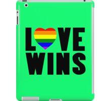 Love wins lovewins celebrate marriage equality geek funny nerd iPad Case/Skin