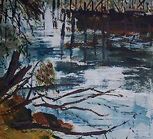 The Old Trestle Bridge , Seymour, Vic, Australia by Margaret Morgan (Watkins)