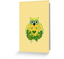 The Yellow Owl  Greeting Card