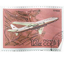 The Soviet Union 1969 CPA 3832 stamp Airplane Tupolev Tu 104 1955 Pegasus cancelled USSR Poster