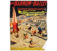Poster 1890s Barnum and Bailey Grand Water Circus USSR Poster