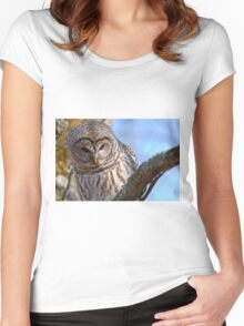 Barred Owl - Brighton Ontario Women's Fitted Scoop T-Shirt