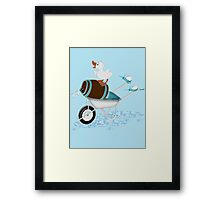 Naughty Little Duck  Framed Print