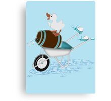 Naughty Little Duck  Canvas Print