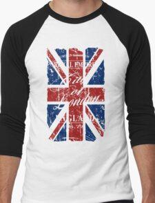 London - United Kingdom - Union Jack Flag Men's Baseball ¾ T-Shirt