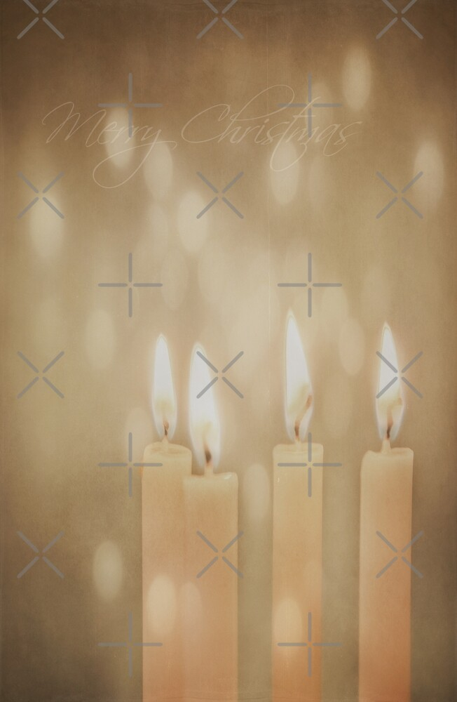 Christmas Candles by Denise Abé