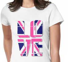 Love - Union Jack Flag Womens Fitted T-Shirt