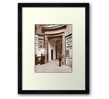Posters 1880s Altes Burgtheater Eingang 1880  Framed Print