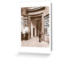 Posters 1880s Altes Burgtheater Eingang 1880  Greeting Card