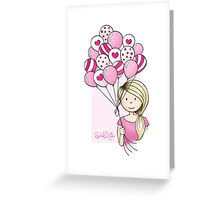 Cutie Pie with Balloons Greeting Card