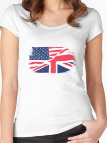 USA Flag - Union Jack Women's Fitted Scoop T-Shirt