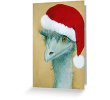 """Christmas Emu"" Greeting Card"