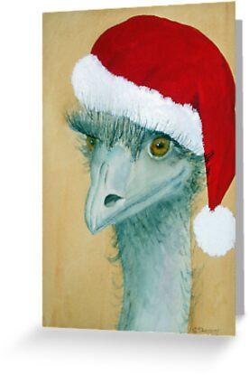 """Christmas Emu"" by sooziii"