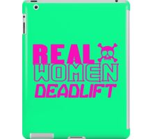 Real women deadlift geek funny nerd iPad Case/Skin