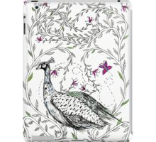 Peacock, Honeysuckle and Butterfly  iPad Case/Skin