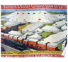 Poster 1890s Barnum & Bailey greatest show on Earth poster USSR Poster