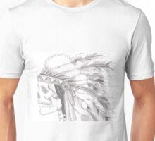 tribal skull pencil drawing Unisex T-Shirt