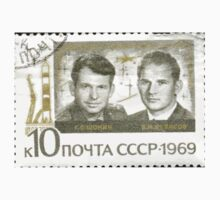 Soyuz program stamp series The Soviet Union 1969 CPA 3809 stamp Georgi Shonin and Valeri Kubasov Soyuz 6 cancelled high resolution USSR Kids Tee