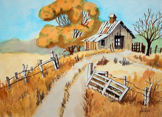The Tractor Shed by Jim Phillips
