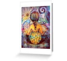 Rainbow Meditation Greeting Card