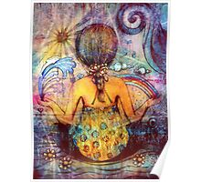 Rainbow Meditation Poster