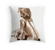 Flat Brush Throw Pillow