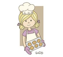 Cutie Pie Baker Girl Photographic Print
