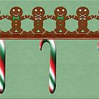 Gingerbread Men Christmas Card by Chere Lei