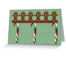 Gingerbread Men Christmas Card Greeting Card