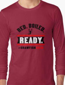 Red boiled ready crawfish 2016 mens geek funny nerd Long Sleeve T-Shirt
