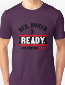 Red boiled ready crawfish 2016 mens geek funny nerd T-Shirt