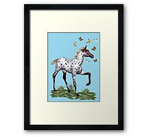 The Foal and the Butterflies Framed Print
