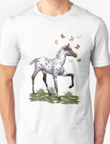 The Foal and the Butterflies Unisex T-Shirt