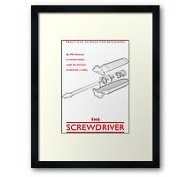 Practical Science for Beginners: The Screwdriver Framed Print
