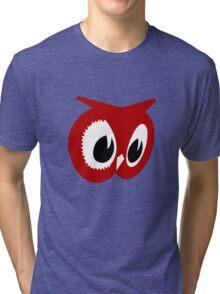 Red owl vintage red owl food stores geek funny nerd Tri-blend T-Shirt