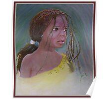 African Little Girl Senegal Poster