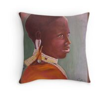 African Young Beauty Throw Pillow