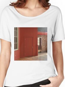 DARK RED WALL Women's Relaxed Fit T-Shirt
