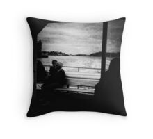Shadows and Light | Floating Worlds Throw Pillow