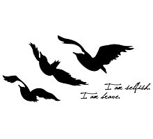 Divergent - Selfish & Brave Ravens Tattoo Photographic Print