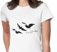 Divergent - Selfish & Brave Ravens Tattoo Womens Fitted T-Shirt