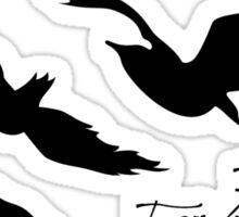Divergent - Selfish & Brave Ravens Tattoo Sticker