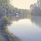 Thames between Sonning & Reading. by Richard Picton