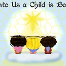 Three Angels Christmas Card 2 by Chere Lei