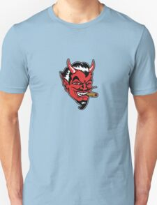 Retro devil head geek funny nerd T-Shirt