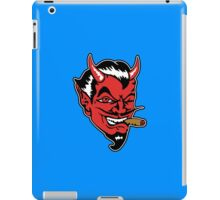 Retro devil head geek funny nerd iPad Case/Skin