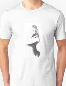 woman face pencil drawing Unisex T-Shirt