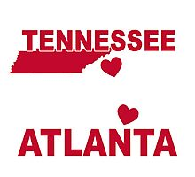 JUST A TENNESSEE GIRL LOYAL TO MY TEAM IN ATLANTA Photographic Print