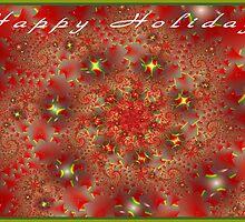 Happy Holidays - Greeting Card by Lynda K Cole-Smith