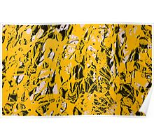 Yellow & Black Abstract Poster